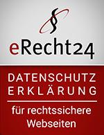Datenschutzerklärung   erecht24 siegel datenschutz rot small